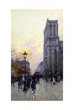 Notre Dame De Paris Giclee Print by Eugene Galien-Laloue