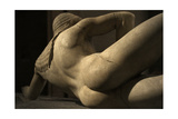 Aegina West Pediment. 500-490 BC. Detail of Fallen Trojan Warrior. Temple of Aphaia. Greece Giclee Print