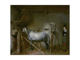 Horse in a Stable, C.1652-54 Lámina giclée por Gerard ter Borch or Terborch