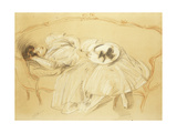 Young Woman on the Sofa; Jeune Femme Au Divan Giclee Print by Paul Cesar Helleu