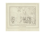The Cloisters of the Royal Exchange in the City of London Giclee Print by Anthony van Assen