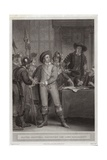 Oliver Cromwell (1599-1658) Dissolving the Long Parliament Giclee Print by Thomas Stothard