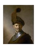 An Old Man in Military Costume (Formerly Called Portrait of Rembrandt's Father), C.1630 Impressão giclée por  Rembrandt van Rijn