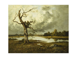 A French River Landscape Giclee Print by Leon Richet