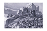 Attack of the Welsh on Montgomery Castle Ad1095, 1920's Giclee Print by Alfred Pearse