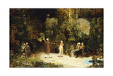 The Fencing Lesson, C.1879 Giclee Print by Walter Gay