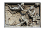 Italy. Milan. Cathedral. Gothic. 14th Century. St. Jerome Visited by an Angel. Relief. West Facade Giclee Print