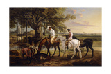 Sir Charles Blunt at the Death of the Boar, 1816 Giclee Print by James Ward