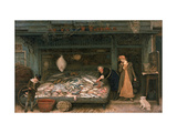 The Fishmonger's Shop, 1872 Giclee Print by Frederick Walker