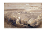 Jerusalem from the Road Leading to Bethany Giclee Print by David Roberts