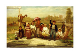Look Out for the Engine While the Bell Rings, 1863 Giclee Print by John George Brown