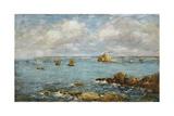 Bay of Douarnenez; La Baie De Douarnenez, 1897 Giclee Print by Eugène Boudin