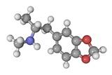 MDMA Drug Molecule Reproduction photographique par Laguna Design