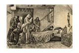 Death of Christopher Columbus (1451-1506). Engraving Giclee Print