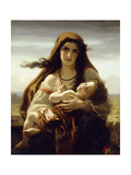Mother and Child, 1870 Giclee Print by Hugues Merle