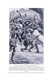 The Capture of Linlithgow Castle Ad1313, 1920's Giclee Print by Alfred Pearse