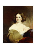 Mrs. Thomas Fitzgerald (Nee Sarah Levering Riter), 1858 Giclee Print by Thomas Sully