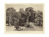 Naworth Castle, Cumberland Giclee Print by George Cattermole
