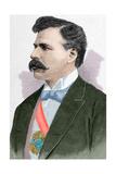 Julio Herrera Obes (1841-1912). Engraving. Colored Giclee Print by Arturo Carretero y Sánchez