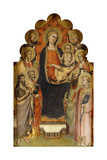 The Madonna and Child Enthroned with Saints John the Baptist, Peter, Mary Magdalen, Paul and… Giclee Print by Nicolo di Pietro