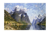 Hardanger Fjord, Norway Giclee Print by Adelsteen Normann