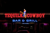 The Tequila Bar and Grill at Night on Main Street in Nashville Tennessee Photographie