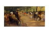 An Elegant Gathering in the Bois De Boulogne Giclee Print by Jean-louis Lefort