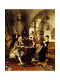 A Game of Chess Giclee Print by Carl Herpfer