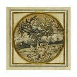 The Fall of Icarus - Design for a Pendant or Hat Badge, C.1532-43 Giclee Print by Hans Holbein the Younger