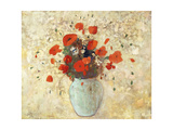 Vase of Poppies; Vase De Coquelicots, 1905-09 Giclee Print by Odilon Redon