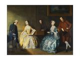 A Group Portrait of the Chambers Family Giclee Print by John Thomas Seton