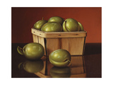 A Basket of Plums Giclee Print by Levi Wells Prentice
