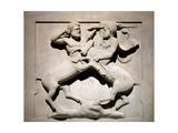 Phoenician. Lycian Sarcophagus. 5th BC. Batlle of Centaurs. Royal Necropolis of Sidon. Lebanon.… Giclee Print