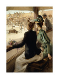 At the Bullfight Giclee Print by Albert Lynch