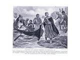 Ethelred the Unready Embarking for Normandy Ad1013, 1920's Giclee Print by Ernest Prater