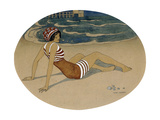 The New Bathing Suit Giclee Print by Gerda Marie Frederike Wegener