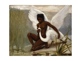 Leda y el cisne Lámina giclée por Henri-Paul Motte