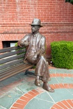 Statue of William Faulkner Outside the Lafayette County Courthouse in Oxford Mississippi Photographic Print
