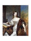 Portrait of a Lady, Seated Three-Quarter Length, in a White Dress and Fur-Lined Cape, 169 Giclee Print by Arnold Boonen