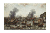 The Battle of Gibraltar, Between the Dutch and Spanish Fleets, 25th April 1607, 1639 Giclee Print by Adam Willaerts