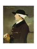 Portrait of the Hon. Richard Holmes of St. Kitts, Half Length, in Profile, Wearing a Brown Coat… Giclee Print by John Wollaston