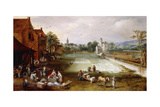 A Bleaching Ground Giclee Print by  Joos de Momper and Jan Brueghel