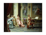 The Afternoon Concert - Out of Tune Giclee Print by Vittorio Reggianini