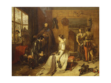 A Parting Benediction-'speak Truly on Thy Knighthood and Thine Oath' Giclee Print by Charles Landseer