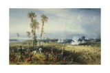 The War in Italy: the Battle of Palestro, the King of Sardinia Heading the Troops, 1859 Giclee Print by Carlo Bossoli