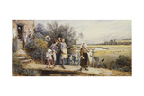 May Day Garlands Giclee Print by Myles Birket Foster