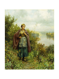 An Autumn Stroll Giclee Print by Daniel Ridgway Knight