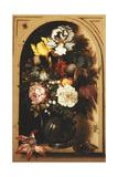 Flowers in a Vase Inside a Niche, 1621 Giclee Print by Balthasar van der Ast