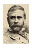 Antonio Cortina (1841-1890). Engraving Giclee Print by Arturo Carretero y Sánchez