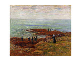 The Coast of Breton; La Cote Bretonne Giclee Print by Henry Moret